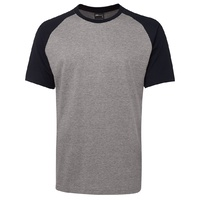 JB's TWO TONE TEE 13% MARLE/NAVY S - 2XL