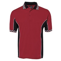 PODIUM MOTO POLO SHIRT RED/BLACK/WHITE S - 4XL