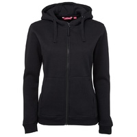 JB'S LADIES FULL ZIP FLEECY HOODIE NAVY or BLACK