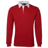 JB's RUGBY TOP RED/WHITE SZ S - 5XL - 3R