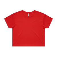 WO'S CROP TEE RED SZ XSM-XLG - 4062