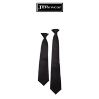 CLIP ON TIE BLACK LARGE - 5PK