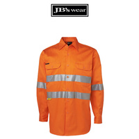 JB's (D+N) L/S 190G WORK SHIRT HV ORANGE