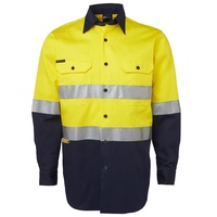 JB's HV (D+N) L/S 190G SHIRT YELLOW/NAVY