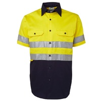 JB's HV (D+N) S/S 190G SHIRT YELLOW/NAVY