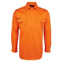 JB's HV CLOSE FRONT L/S 190G SHIRT ORANGE