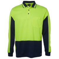 JB's HV 4602.1 L/S GAP POLO  LIME/NAVY