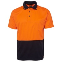 JB's HV 4602.1 NON CUFF TRAD POLO ORANGE/NAVY