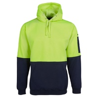 JB's HV PULL OVER HOODIE LIME/NAVY