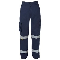 JB's M/RISED MULTI POCKET PANT WITH 3M TAPE NAVY 6MMP