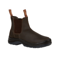 JB's ELASTIC SIDED SAFETY BOOT -CLARET