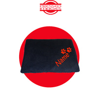 PERSONALISED DOG BLANKET - BLACK/RED