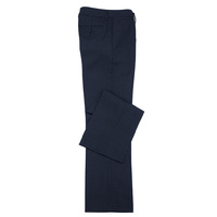 LADIES CLASSIC FLAT FRONT PANT - NAVY