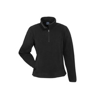 LADIES TRINITY 1/2 ZIP PULLOVER - BLACK