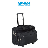 G2465 BLACK TRAVEL TROLLEY BAG