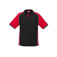 MENS NITRO POLO BLACK/RED/WHITE P10112