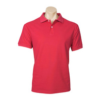 MENS NEON POLO SHIRT RED P2100