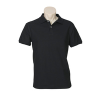 MENS NEON POLO SHIRT BLACK P2100