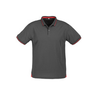 MENS JET POLO EMERALD STEEL GREY/RED P226MS