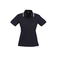 LADIES CAMBRIDGE POLO NAVY/WHITE P227LS