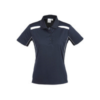 LADIES UNITED SHORT SLEEVE POLO SHIRT NAVY/WHITE P244LS