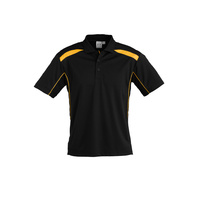 MENS UNITED SHORT SLEEVE POLO SHIRT BLACK/GOLD P244MS