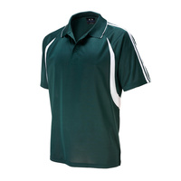 MENS FLASH POLO SHIRT FOREST/WHITE P3010