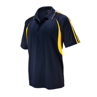 MENS FLASH POLO NAVY/GOLD P3010