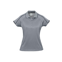 LADIES BLADE POLO SILVER GREY/BLACK P303LS