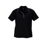 LADIES ELITE POLO BLACK/WHITE P3225