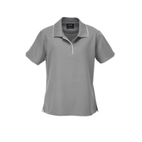 LADIES ELITE POLO SILVER GREY/WHITE P3225