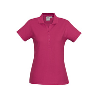 LADIES CREW POLO SHIRT FUCHSIA P400LS SZ 8 - 24