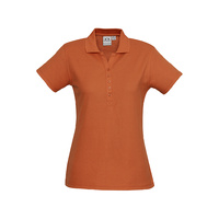 LADIES CREW POLO SHIRT ORANGE P400LS SZ 8 - 24