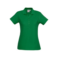 LADIES CREW POLO SHIRT KELLY GREEN P400LS SZ 8 - 24