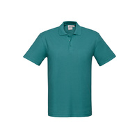 MENS CREW POLO SHIRT TEAL P400MS