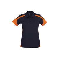 LADIES TALON POLO NAVY/ORANGE P401LS SZ 8 - 24