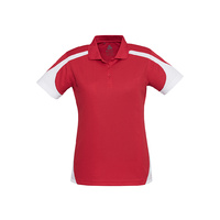 LADIES TALON POLO RED/WHITE P401LS SZ 8 - 24