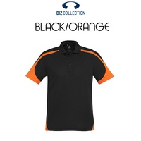 MENS TALON POLO BLACK/ORANGE P401MS