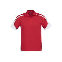 MENS TALON POLO RED/WHITE P401MS