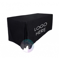 FITTED TABLE CLOTH with LOGO BLACK