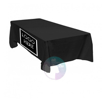 TABLE CLOTH with LOGO RECTANGLE BLACK
