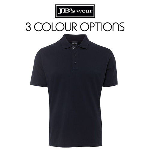 JB's COTTON JERSEY POLO-Size-S-Colour-Black