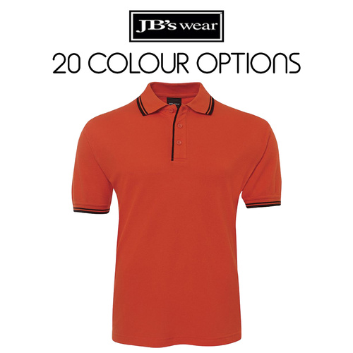 JB's CONTRAST POLO-Size-S-Colour-Black/Gold