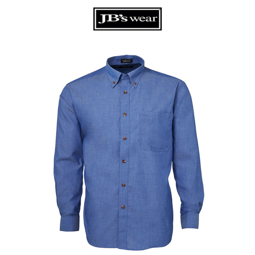 JB's L/S INDIGO SHIRT-Size-XL-Colour-Indigo