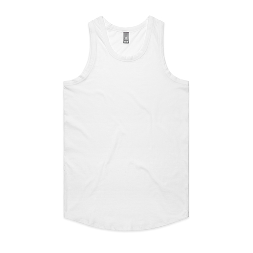 MENS AUTHENTIC SINGLET WHITE - 5004 SML
