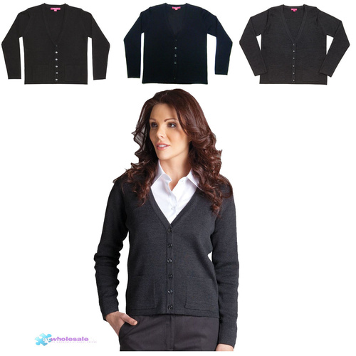 JB's LADIES KNITTED CARDIGAN-Size-8-Colour-Black