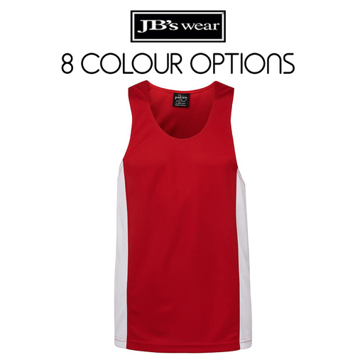 PODIUM CONTRAST SINGLET-Size-S-Colour-Black/Red