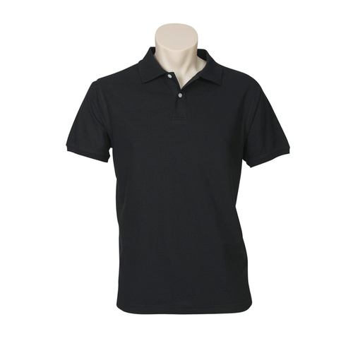 MENS NEON POLO BLACK P2100 XL