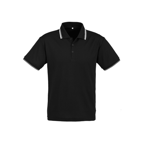 MENS CAMBRIDGE POLO BLACK/WHITE/WHITE P227MS 3XL