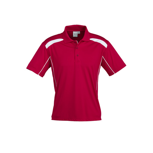 MENS UNITED SHORT SLEEVE POLO RED/WHITE P244MS M